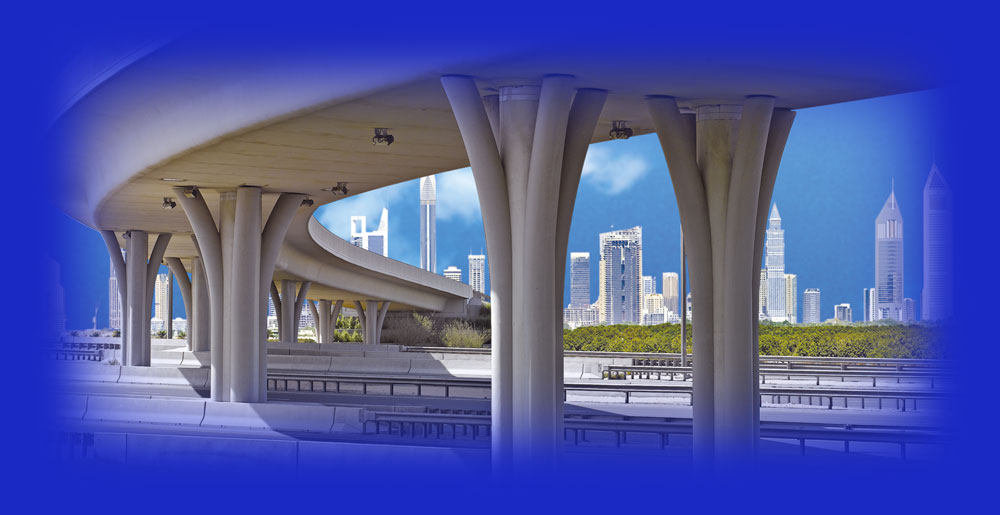 Metro bridge, Dubai